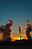 Power station chimneys, USA