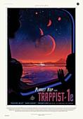 TRAPPIST-1 planetary tourism, illustration