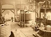 Niagara Falls power station, historical image
