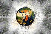 Earth destruction, illustration