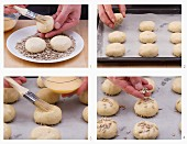 How to make quick bread rolls with sunflower seeds