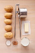 Ingredients for mashed potato
