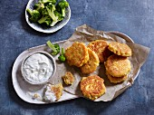 Quick and easy chickpea fritters with feta