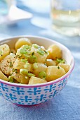 Potato salad with spring onion
