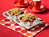 Apple and berry crumble