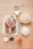 Zutaten für ausgebackenes Seelachsfilet
