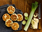 Caerphilly Cheese and Leek Welshcakes