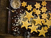 Star Shaped Salted Oatmeal Biscuits