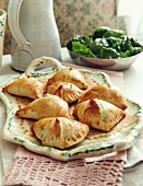 Pastries filled with spinach and feta