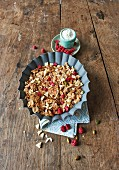 Raspberry and pistachio granola