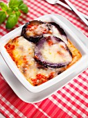 Parmigiana made with a filling of eggplant, Sicily, Campania, Italy, Europe