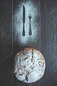 Panettone (Hefekuchen zu Weihnachten) aus Mailand, Lombardei, Italien