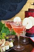 Temptation Cocktail mit Birnen- und Cranberrysaft