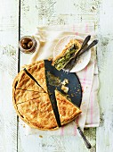 Spanakopita (Spinach pie made with filo pastry, Greece)