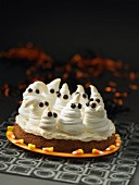 Ghostly brownie cake
