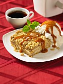 Toffee apple cake with caramel topping