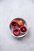 Blood orange, partly squeezed
