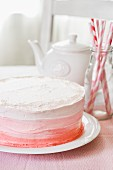 A pink ombre cake for Valentine's Day