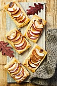 Autumnal apple tarts