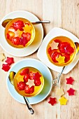 Small fruit jellies with strawberries