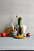 Ingredients for vegan vegetable pilau