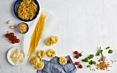 Ingredients for one-pot wonders with pasta
