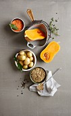 One-pot wonders - pulses, pumpkin and potatoes