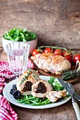 Chicken breast stuffed with prunes