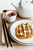 Okonomiyaki (Pancake mit Kohl, Japan)