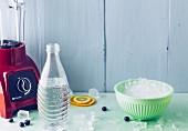 Wasser und Eiswürfel - Zutaten für Flavoured Water