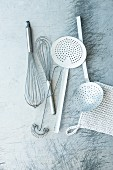 Whisks and slotted spoons