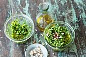 Wild garlic pesto with hazelnuts