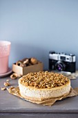 Cheesecake with brown butter and caramelised walnuts