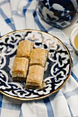 Baklava and a cup of tea