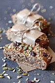 Homemade muesli bars to take away