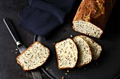 Hearty almond and linseed bread with Greek yoghurt