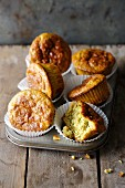 Quattro formaggi muffins with cashews