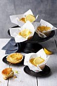 Cream cheese and lemon muffins with birch sugar