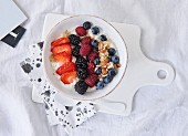 Greek yoghurt with quinoa and mixed berries