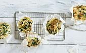 Vegetarische Spinat-Feta-Muffins