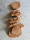 Spelt bread with chia and sunflower seeds