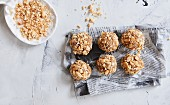 Peanut energy balls with dates and oats (sugar-free)