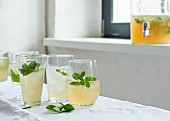 Mate ice tea with mint (sugar-free)