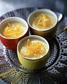 Flan with candied orange peel