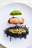 Black tagliolini with Norway lobster