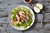 Chicken and leek salad