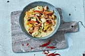 Gemüse-Kokos-Wok mit Tofu