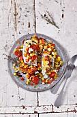 Gemüseauflauf mit Kabeljau
