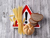 Attention: carbohydrates (bread, bread roll and pasta)