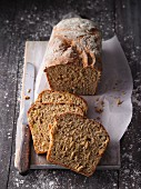Potato and carrot bread with oats